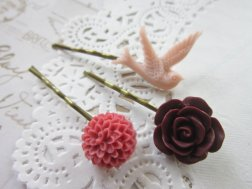 Hair pins, by DubiousDesign on etsy.com