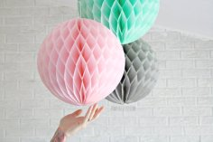 Honeycomb paper lanterns - www.etsy.com/shop/pomtree
