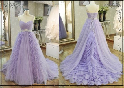 Lavender bridal gown, by VeeFormal on etsy.com
