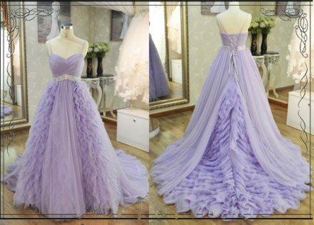 Lavender bridal gown, by VeeFormal on etsy.com