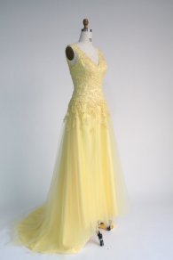 Lemon yellow bridal gown, by DressTrend on etsy.com