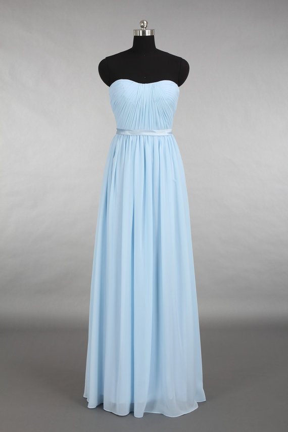 Peach yellow and light blue wedding the merry bride for Pale blue dress for wedding