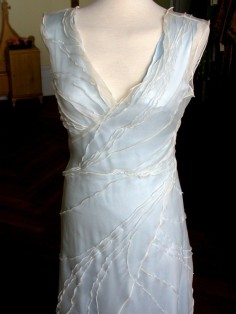 Light blue wedding dress, by avaFelt on etsy.com