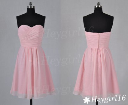 Light pink bridesmaid dress, by HeyGirl16 on etsy.com