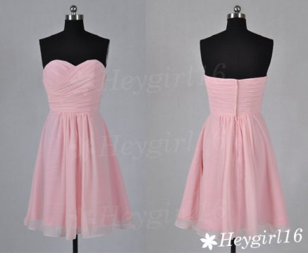 Light pink bridesmaid dress, by HeyGirl16 on etsy.com
