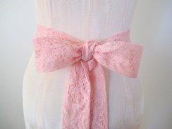 Light pink lace sash, by ccdoodle on etsy.com