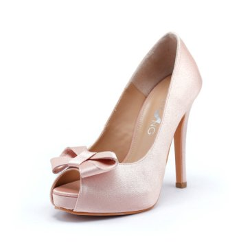 Light pink wedding heels, by ChristyNgShoes on etsy.com