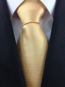 Men's gold necktie - www.etsy.com/shop/TheNecktieShop
