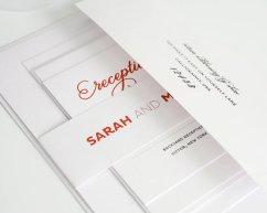 Modern wedding invitation - www.etsy.com/shop/shineinvitations
