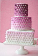 Ombre radiant orchid wedding cake {via confetti.ie}