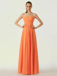 Orange bridesmaid dress, by LOVEVOX on etsy.com