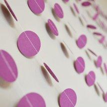 Paper circle garland, by FunkyFrillsUK on etsy.com