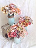 Paper rose centrepieces, by kC2Designs on etsy.com