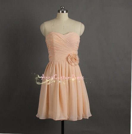 Peach bridesmaid dress, by AnnaCustomDress on etsy.com