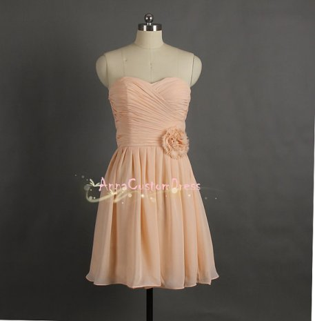 Peach bridesmaid dress, by AnnaCustomDress on etsy.com