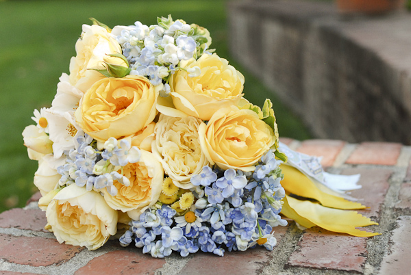 Peach, yellow and light blue wedding | The Merry Bride