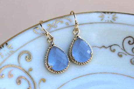 Periwinkle earrings, by laalee on etsy.com