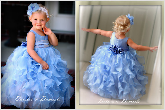 Periwinkle Flower Girl Dress By Daisiesanddamsels On Etsy Com The