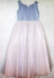 Periwinkle flower girl dress, by RoseArborVintage on etsy.com