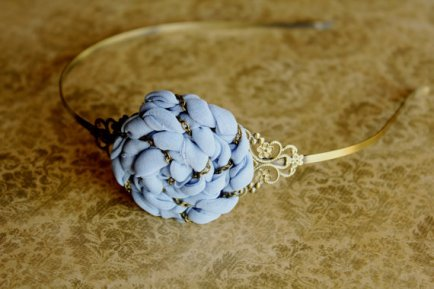 Periwinkle headband, by StudioElenus on etsy.com