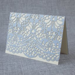 Periwinkle placecard, by AlexisMattoxDesign on etsy.com
