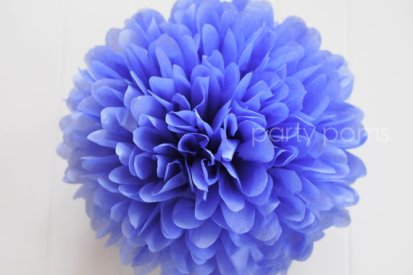 Periwinkle pom, by PartyPoms on etsy.com