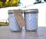 Periwinkle soy candles, by WithAllMyHart on etsy.com