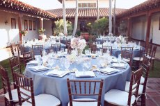 Periwinkle wedding reception inspiration {via societybride.com}