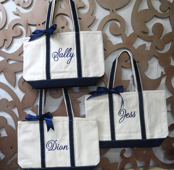 Tote Bags Personalised Personalised Bridesmaid Tote