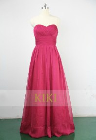 Pink bridesmaid dress, by KikiStory on etsy.com