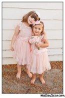 Pink flower girl dresses, by AvaMadisonBoutique on etsy.com