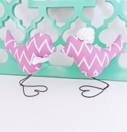 Radiant orchid bird cake toppers, by vintagegreenlimited on etsy.com