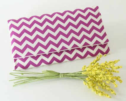 Radiant orchid chevron clutch purse, by goodmarvin on etsy.com