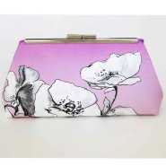 Radiant orchid clutch purse, by Upstyle on etsy.com
