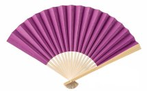 Radiant orchid fans for wedding ceremony guests, by LittleThingsFavors on etsy.com