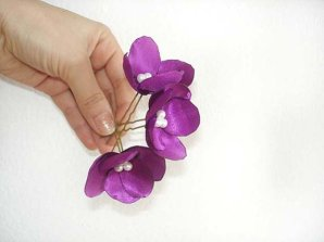 Radiant orchid hair accessories, by MBrides on etsy.com