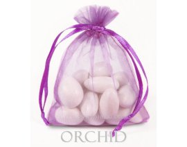 Radiant orchid organza wedding favour bags, by SheerColors on etsy.com