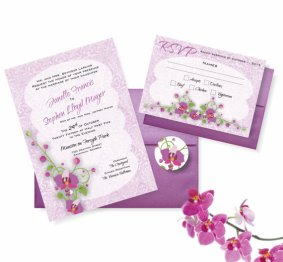Radiant orchid wedding invitation, by AllisStudio on etsy.com