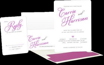 Radiant orchid wedding invitation, by loveknotes on etsy.com