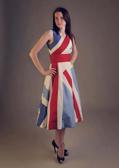 Red, white and blue bridesmaid dress, by HayleyJayneDesigns on etsy.com