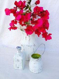 Shabby-chic centrepieces, by SouthamptonVintage on etsy.com