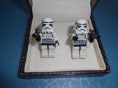 Stormtrooper cufflinks, by CristinasQuirkyCraft on etsy.com
