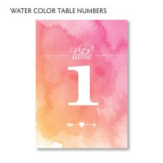 Table numbers, by LarissaKayDesigns on etsy.com