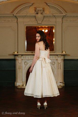 Tea-length reception dress, by flossyanddossy on etsy.com