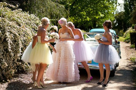 Tulle bridesmaid dresses, by ouma on etsy.com