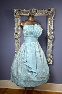 Vintage baby-blue dress, by melsvanity on etsy.com