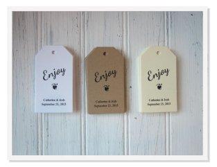 Wedding favour tags, by greenridge on etsy.com
