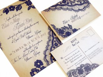 Wedding invitation, by DesignedWithAmore on etsy.com