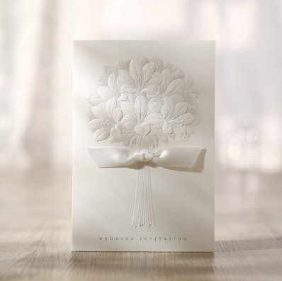 White wedding invitation - www.etsy.com/shop/sweetywedding
