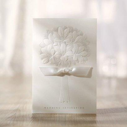 White wedding invitation - www.etsy.com/shop/sweetywedding